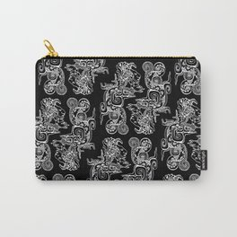 Maya Serpent Pattern Black Carry-All Pouch