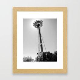 Space Needle, the Seattle landmark. Framed Art Print