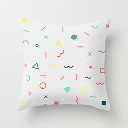 COLORFUL MEMPHIS PATTERN Throw Pillow