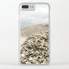 Oyster Shell Mounds, Seafood Fishing Industry, Washington, Northwest Clear iPhone Case