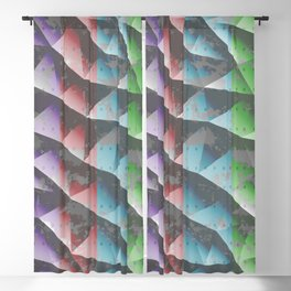Abstract triangle background Blackout Curtain
