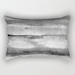 Layers grayscale abstract natural pattern Rectangular Pillow