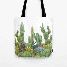 Milagritos Cacti on white background. Tote Bag