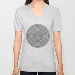 Aligning on White Background Unisex V-Neck