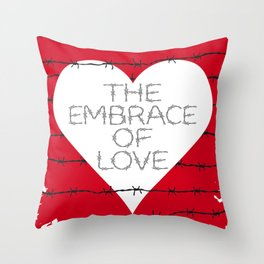The embrace of love Throw Pillow