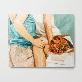 Romance #painting #love Metal Print