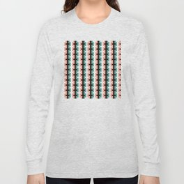 Geometric Pattern #187 (pink olive) Long Sleeve T-shirt