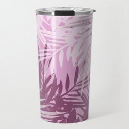 Pink tropical background Travel Mug