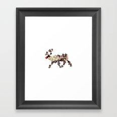 Dotted Rudolph Framed Art Print