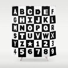 alphabet black and white