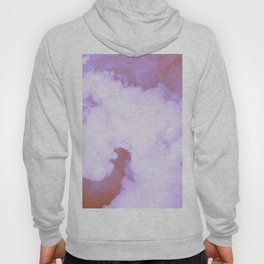 DREAMY PINK AND WHITE RAINBOW CLOUDS Hoody