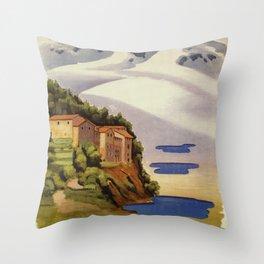 Rieti Sabina vintage Italian travel Throw Pillow
