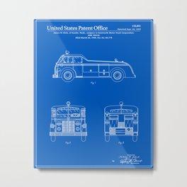 Firetruck Patent - Blueprint Metal Print