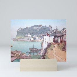 Sekishozan (Shi-chung-shan, South China) by Yoshida Hiroshi - Japanese Vintage Ukiyo-e Painting Mini Art Print