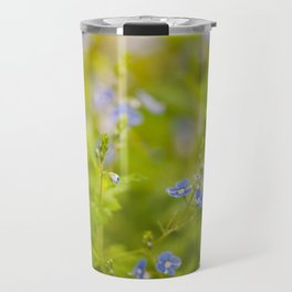 Beautiful blue speedwell flowerets Travel Mug