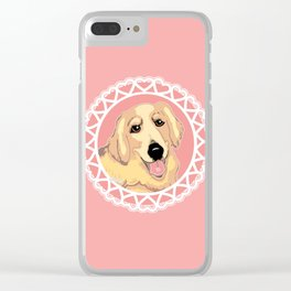 Golden Retriever Love Clear iPhone Case