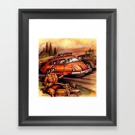 Tri -Wheel Framed Art Print