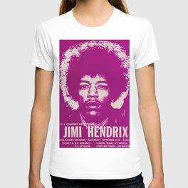 1969 Jimi Hendrix Concert Handbill Poster, Will Rogers Colosseum, Ft. Worth, Texas T-shirt