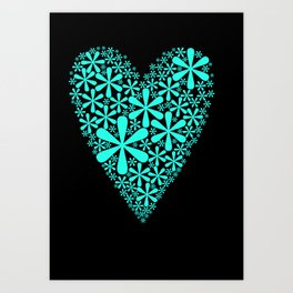 asterisk heart Art Print