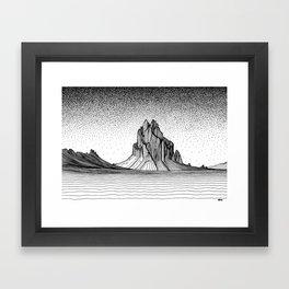 Shiprock Framed Art Print