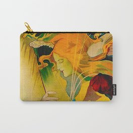 Vintage French Art Nouveau Ad Carry-All Pouch