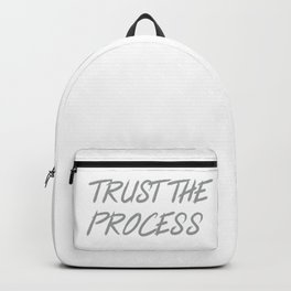 Trust The Process Workout Motivational Design Backpack
