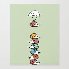 Hedgehogs Away! Canvas Print