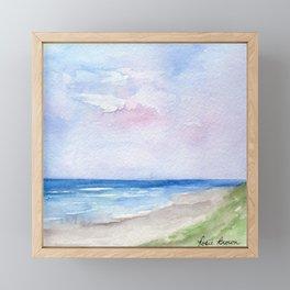 Wet Sand Framed Mini Art Print