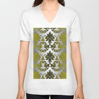 baroque V-neck T-shirts featuring Baroque Contempo by TEZ Living Style