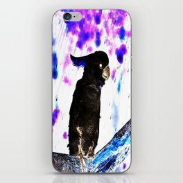Ink Spots of the Black Feathered Cockatoo iPhone Skin