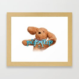 The Adventures of Puppup with Title Framed Art Print