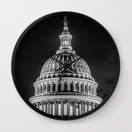 Politics are not Black & White Wall Clock