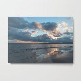 Photo 42 Ocean Sea Sunset beach Metal Print