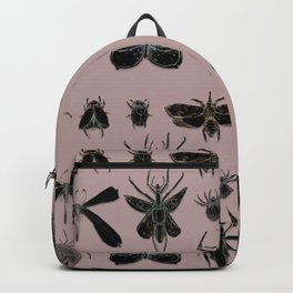 Entomology black and Antique Rose Backpack