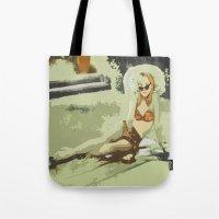 lolita Tote Bags featuring Lolita by Dano77