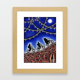 Finding A Friend Framed Art Print