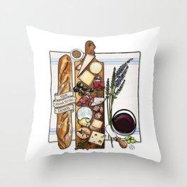 Pardon My French Throw Pillow