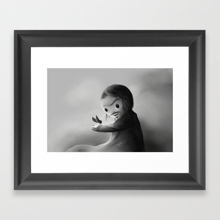 With fangs and love Framed Art Print