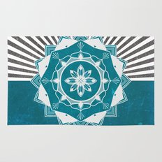 Don't Mess With Your Rising Sun (Teal) Rug