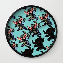 aloha stitch Wall Clock