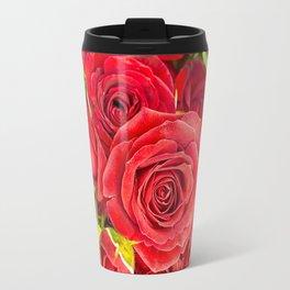 Stunning red roses Travel Mug