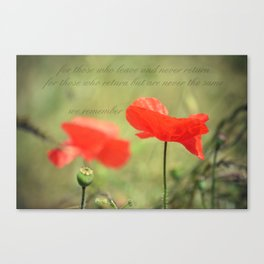 We Remember Canvas Print