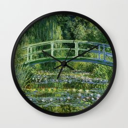 Claude Monet's Water Lilies and Japanese Bridge Wall Clock