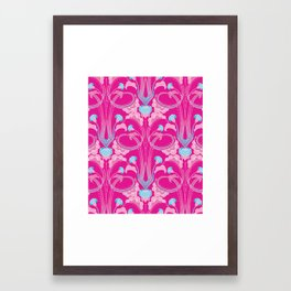 Floral Art Deco  Framed Art Print