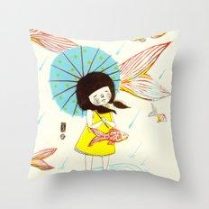 장마   Rainy Season Throw Pillow