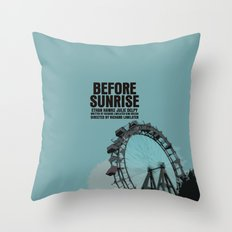 Before Sunrise Movie Poster Throw Pillow