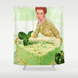 Key Lime Pie Shower Curtain