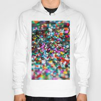confetti Hoodies featuring Confetti by Laura Ruth