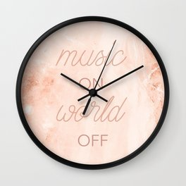 Music On, World Off Wall Clock