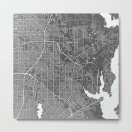 Garland USA Modern Map Art Print Metal Print